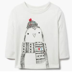 Gymboree Baby Girl Holiday JOY Long Sleeve Tee NWT